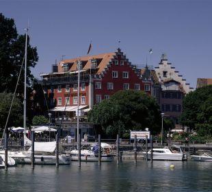 Blick von Hafenmole Hotel Lindauer Hof