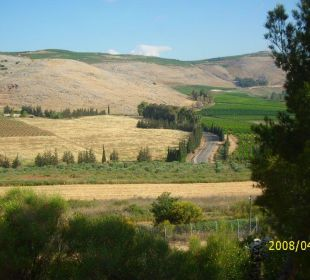 Blick auf den Golan in Kibbuz Kfar Giladi Kfar Giladi Kibbutz Hotel