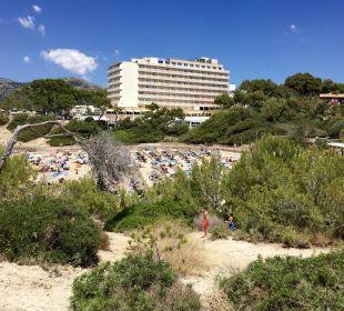 ..Hotel, gesehen von der Klippe Universal Hotel Lido Park
