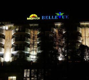 Blick auf die talseitige Front vom Mondi Bellevue MONDI-HOLIDAY First-Class Aparthotel Bellevue