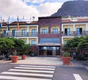 Hotel von vorne Hotel Gran Rey