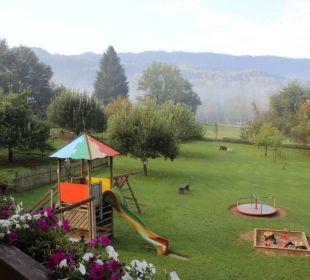 Blick vom Balkon Zimmer Christina Bauernhof Liendl