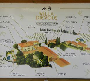 Übersichtsplan der Anlage Hotel & Wine Resort Villa Dievole
