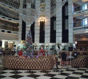 Loppy mit Weihnachtsbaum Hotel Delphin Imperial