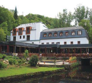 Ansicht vom Garten aus Hotel Heidsmühle