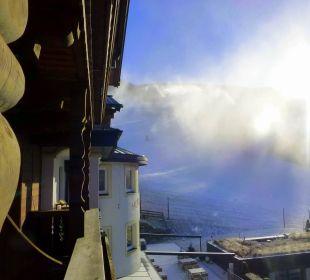 Schneekanonen an der Abfahrt Sonnhof Alpendorf
