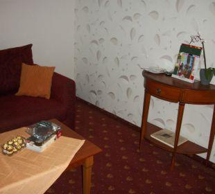 Wohnraum der Suite Ringhotel Zum Stein