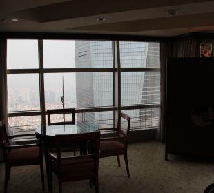 Blick aus dem Wohnzimmer Hotel Grand Hyatt Shanghai