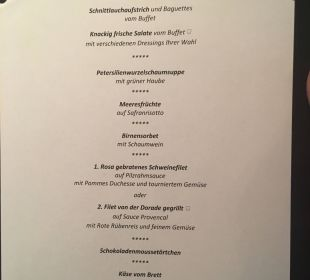 Menüauswahl Alpines Lifestyle Hotel Tannenhof