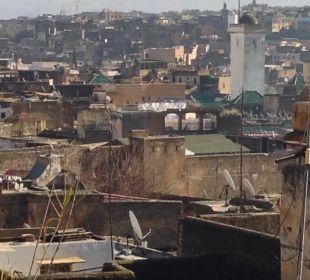 Ausblick vom Dach: Karoline Boutique Hotel Dar Attajalli