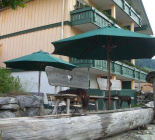 Bänkchen fürs Fussbad Hubertus Alpin Lodge & Spa