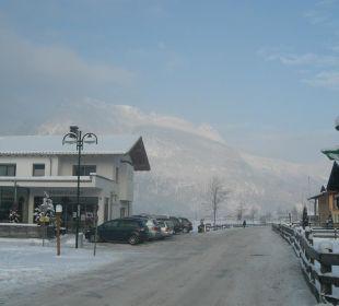 Blick vom Hotel in Richtung Skigebiet Ferienhotel Martinerhof