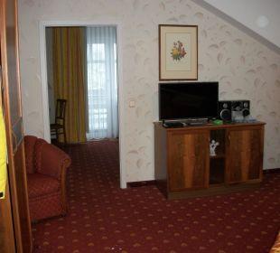 Suiteeinblick und Durchblick zum Wohnteil der Suit Ringhotel Zum Stein