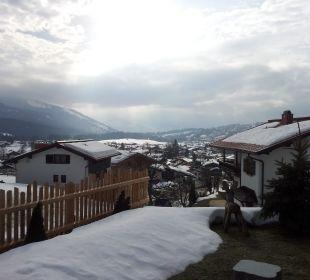 Blick von der Terrasse Ferienwohnungen Neumaier