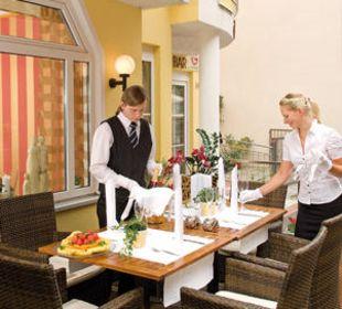 Sommer-Aussenterrasse Hotel Central Vital