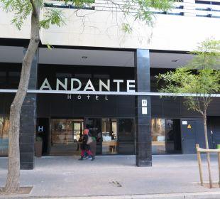 Eingang Av. Drassanes Hotel Andante