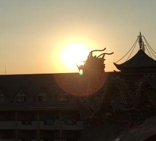 Blick vom Zimmer Hotel Royal Dragon