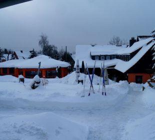Biergarten im Winter Gasthof Brauner Hirsch Sophienhof