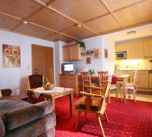 Wohnküche eines Appartements Pension Tannenhof