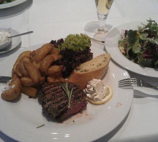 Große Steakkarte im Restaurant Best Western Hotel alte Mühle