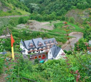 Blick von der Burg aufs Hotel  Hotel Lipmann Am Klosterberg / Altes Zollhaus