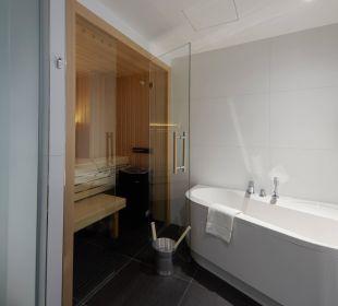 Suite Badezimmer mit privater Sauna Best Western Hotel alte Mühle