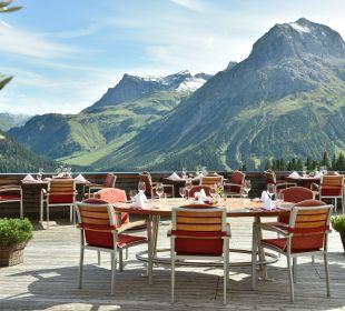 Traumhafter Ausblick von unserer Terrasse Hotel Goldener Berg