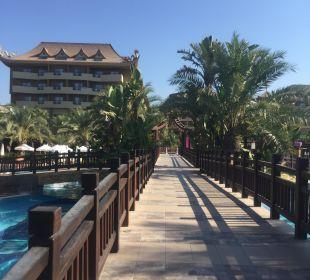 Blick von der Brücke Hotel Royal Dragon