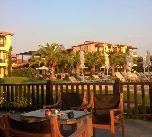 Ausblick Beachbar Anthemus Sea Beach Hotel & Spa