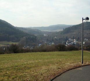 Ausblick vom Hotelparkplatz Landhaus Müllenborn