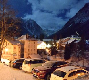 Blick von der Terrrasse Nachts Hotel Ladina