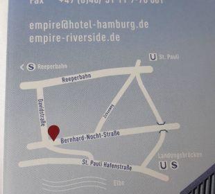Lageplan vom Hotel Empire Riverside Hotel Hamburg