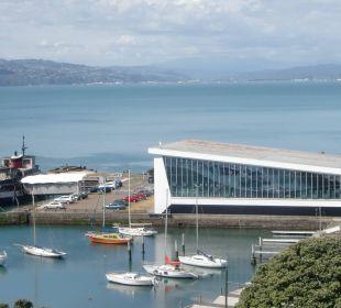 Blick auf Hafen vom Zimmer Copthorne Hotel Oriental Bay