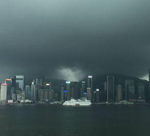 Unwetter über Hongkong InterContinental Hotel Grand Stanford Hong Kong