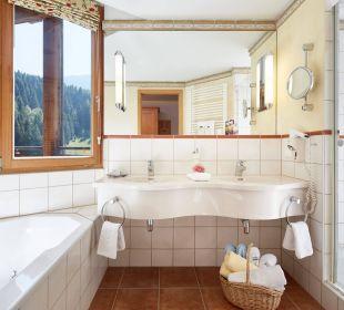 Sonnensuite Badezimmer  Hotel Die Post