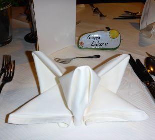 Tischdeko Hotel Alpenblume
