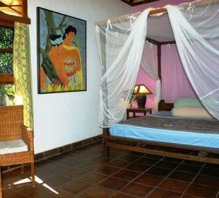 Das Zimmer des kleinen Bungalows Saraswati Holiday House