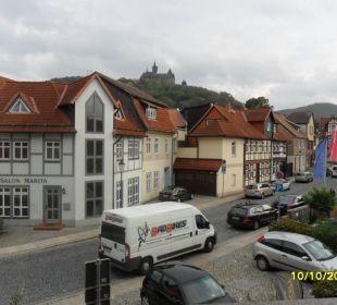 Blick zum Schloß Apart Hotel Wernigerode