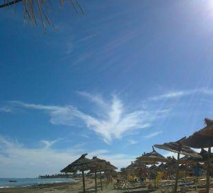 Flachabfallender sandstrand Hotel Safira Palms
