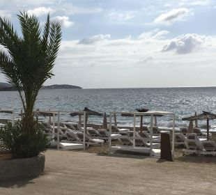 Blick von der Beachbar auf den Strand lti fashion Garbi