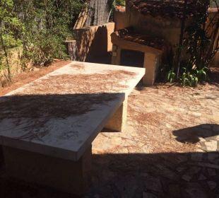 Verlaubte dreckige Gartenanlage Sardafit Ferienhaus Budoni