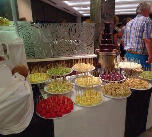 Schokobrunnen mit Früchten Sensimar Side Resort & Spa