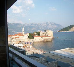 Blick vom Balkon Hotel Avala