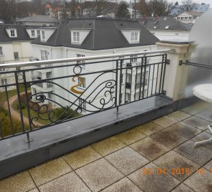 Nochmal kleiner Balkon SEETELHOTEL Ostseeresidenz Heringsdorf