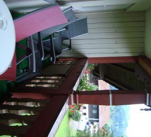 Gemeinschaftsbalkon der beiden Appartements Hotel Mühlenhof