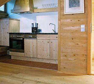 Komplett ausgestattete Wohnküche in Appt. 6 Landhaus Schloss Anras