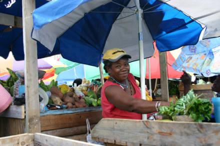 Marktfrau - Markt von St. Georges