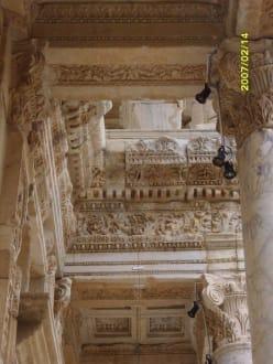 Celsus Bibliothek, Detail von Unten! - Antikes Ephesus