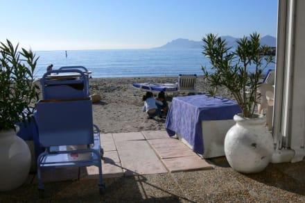 Blick vom Restaurant - Strand Cannes
