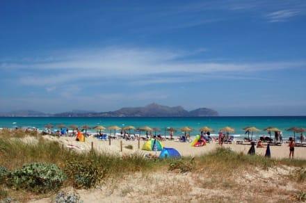 Der Strand - Naturschutzgebiet Dunes de Son Real